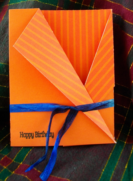 Happy birthday robe card