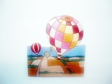 Wood Sculpture, Hot Air Balloon, Wall Art