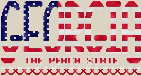 Georgia The Peach State Cross Stitch Pattern