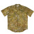Yellow / Tan Batik Aloha Shirt - Size Medium
