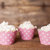 12 Light Pink Polka Dot Cupcake Wrappers - Light Pink Cupcake Wrappers - Great
