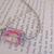 Pink glass bead choker necklace