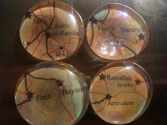 4 Large Lost Cities of Palestine Magnets