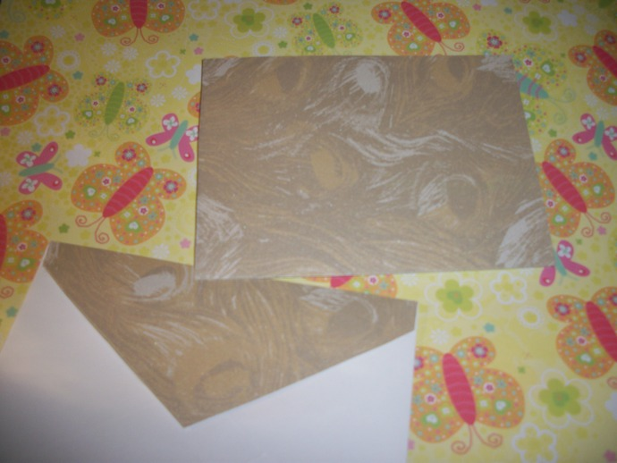 Golden Feathers Handmade Card with matching envelope