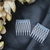 Mini Clear Opaque Hair Combs - Set of 2 (GA217)