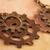 Steampunk Copper and brass Gear earrings