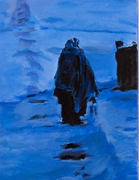 Blue Winter (An Original Landscape With Figure)