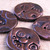 Large round steampunk buttons, set of 4