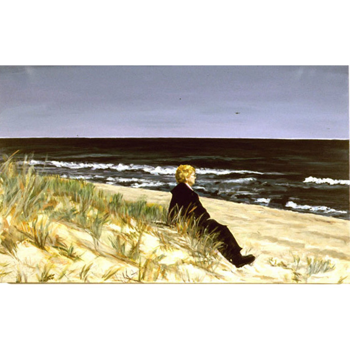 On The Beach (An Original Seascape and Portrait)