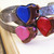 Red Steampunk Cuff gear heart bracelet