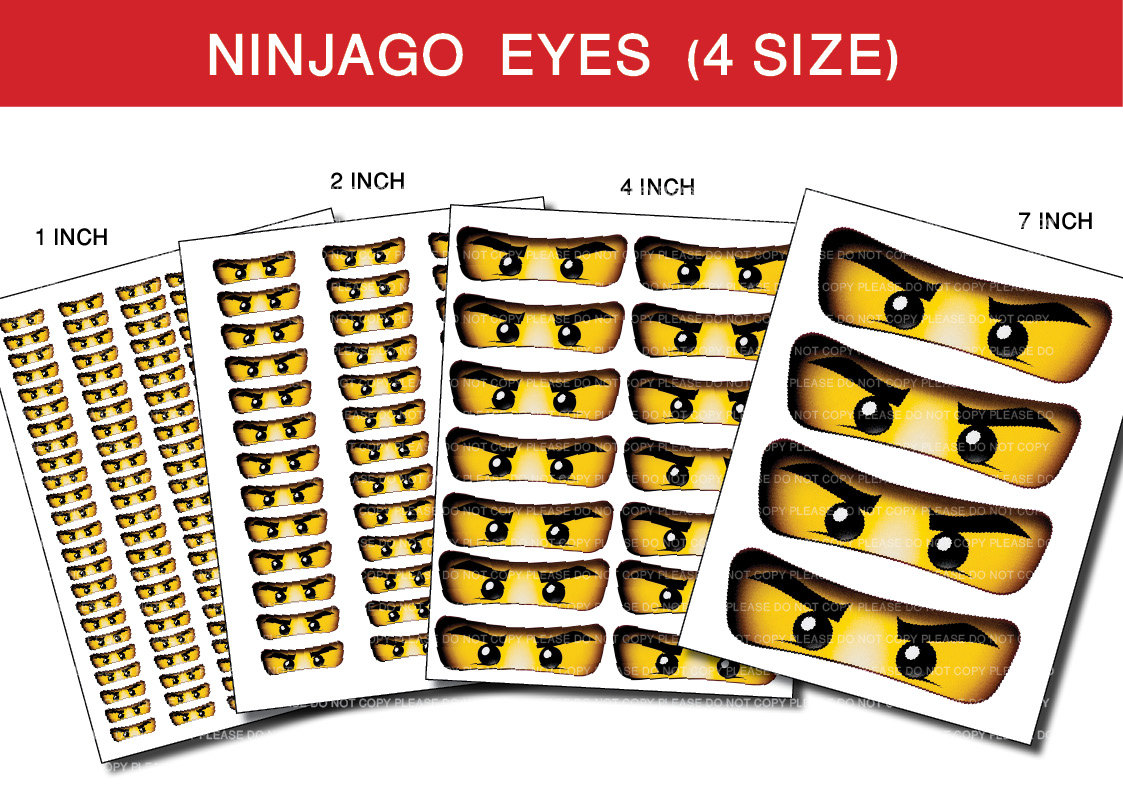 image relating to Printable Ninjago Eyes identify printable ninjago stickers -