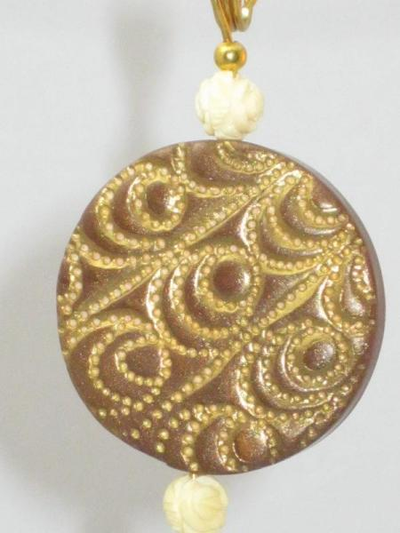 Brown and Gold Pendant