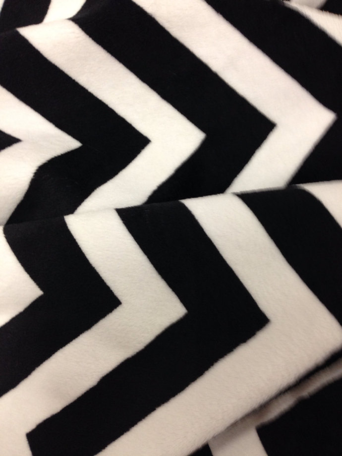 Adult Minky Blanket Black Chevron.Couch Throw  Adult Size 50 x 60