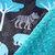 Minky Baby  Blanket  Jungle Animals Elephants on Grey  with Topaz Minky Dot Back