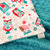 Minky Crib  Blanket  White with Coral  and Teal Owls and  Minky Dot Back   Crib