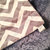 Minky Blanket Silver Grey Chevron Grey Minky Dot Back Pink Satin Ruffle  Adult