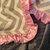 Toddler Minky Blanket Silver Chevron Grey Minky Dot Back Pink Satin Ruffle