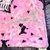 Pink Toddler Minky Blanket Throw Lap Blanket Pink Paris Poodle Dog  Minky Dot