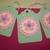 Green and Pink Floral Hang gift tags/6ct set