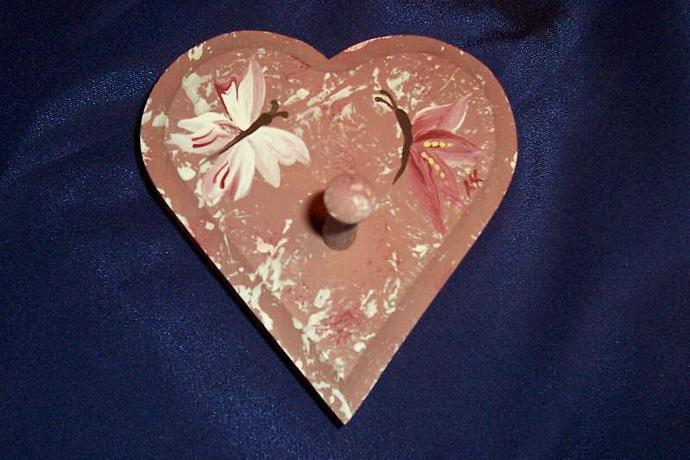 Mauve Heart with Butterflies