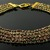 Golden wire knit Cleopatra collar with farfalle beads