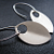 modern earrings in brushed aluminum and sterling