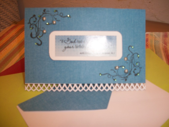 If God had a calendar Your Name Would Be Circled / Blue greeting card with
