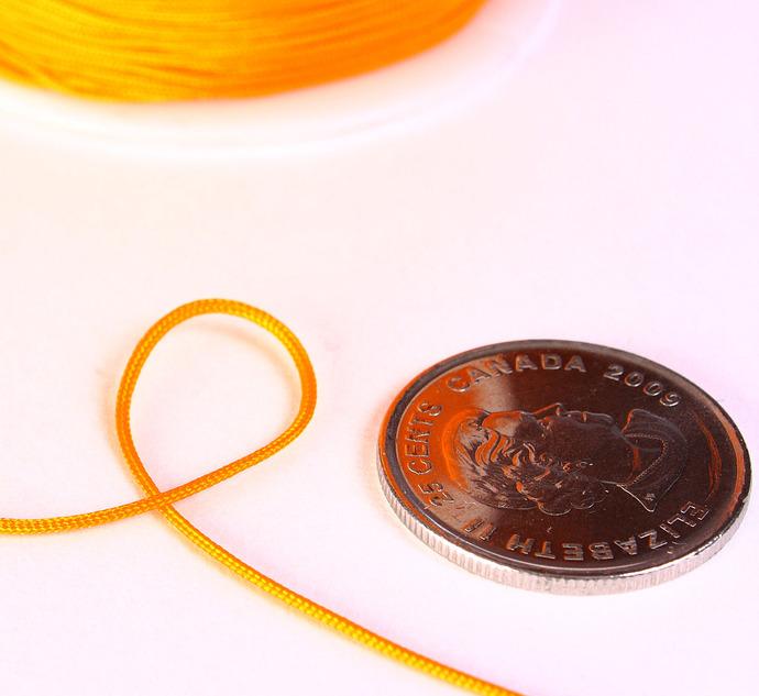 1mm Orange nylon cord - nylon thread - chineese Knotting Cord - Macrame thread -