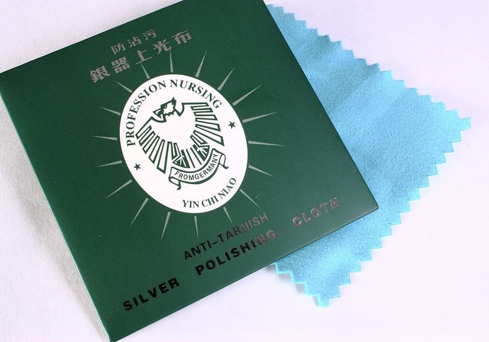 Silver polish antitarnish cloth - Silver polishing cloth - Made in Germany -