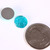 8 Blue round resin cabochon 12mm - Textured cabochons - 8 pieces (1422)