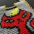 Bead loomed pendant Grouchycat - A HeatherCat