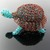 Wire crochet miniature turtle sculpture - Sam Toitle