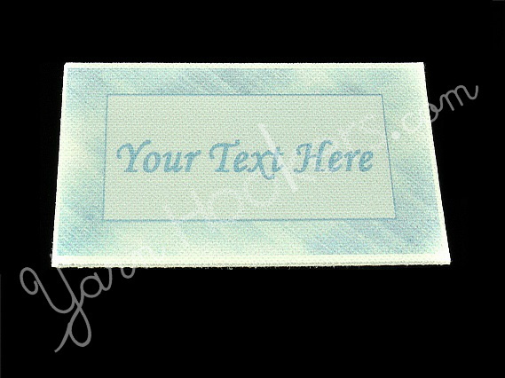 """Blue Steel - """"Iron On"""" or """" Sew In"""" - Cotton Fabric Labels (White) - For"""