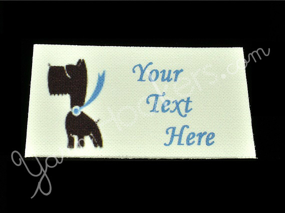 "Super Pooch - ""Iron On"" or "" Sew In"" - Cotton Fabric Labels (White) - For"