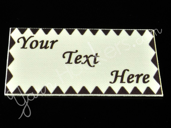"""Triangles - """"Iron On"""" or """" Sew In"""" - Cotton Fabric Labels (White) - For Crochet,"""