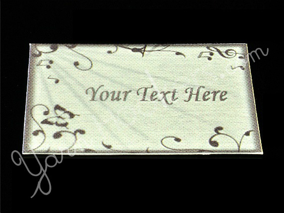 Silver Sheet - Iron On / Sew In - 100% Cotton Fabric Labels (White)