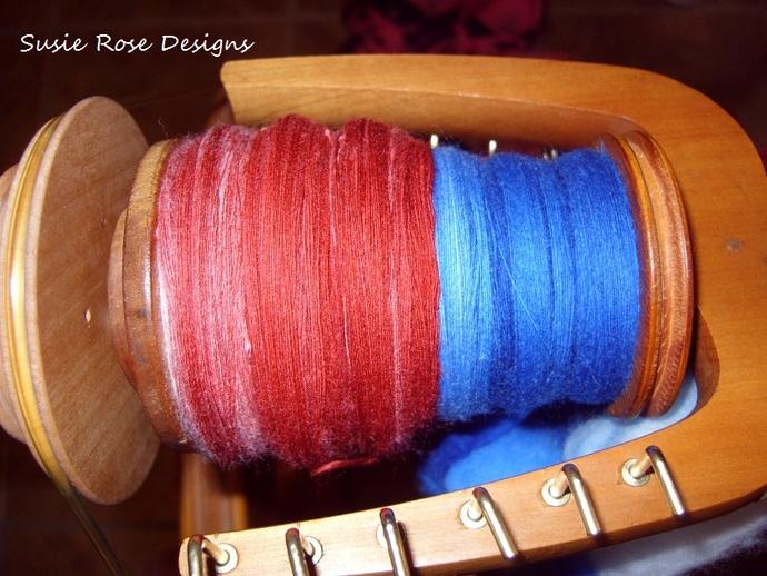 Independence - Red. White & Blue Hand Spun Yarn 1,122 yds/4 oz, 3 ply Light