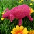 Pink wire crochet pig sculpture - Henry the Pig