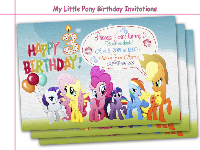 Amazing My Little Pony Birthday – My Little Pony Personalized Birthday Invitations