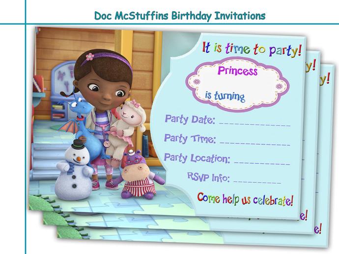 amazing doc mcstuffins birthday by holidaypartystar on zibbet, Birthday invitations