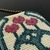 Bead loomed Art Nouveau flower vase pendant with crystal drop