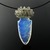 Silver wire knit and arrow head pendant with labradorites