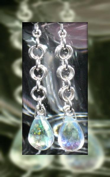 A Dragon's Tears Chainmaille Earrings