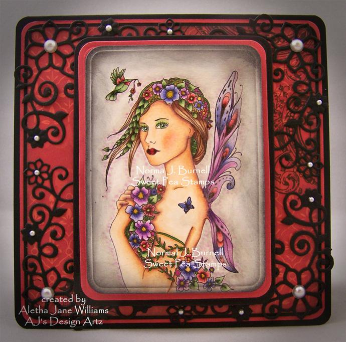 Posey Fairy Handmade OOAK Greeting Art Card
