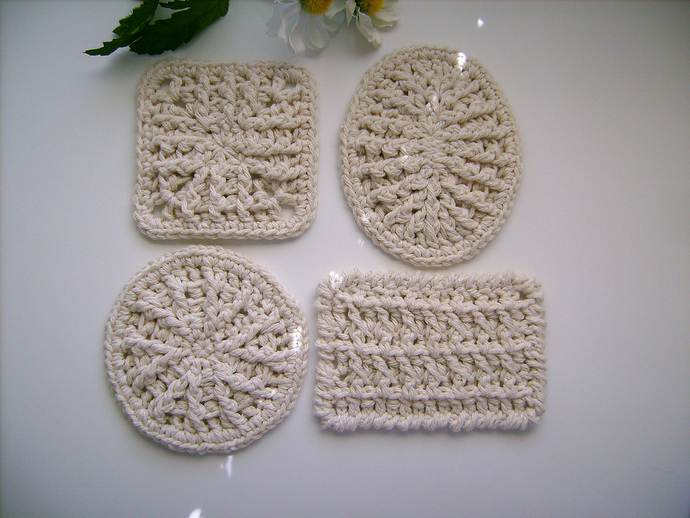 Square Custom Crochet Soap Dish Mat Coaster