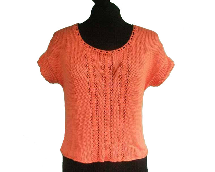 Tangerine Cotton Sweater - Size Small