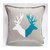Deer print pillow cover - pillow case housewarming or birthday gift cushion -