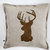 Decorative pillow cover for couch pillow 14x14 inch - Reindeer antique bronze