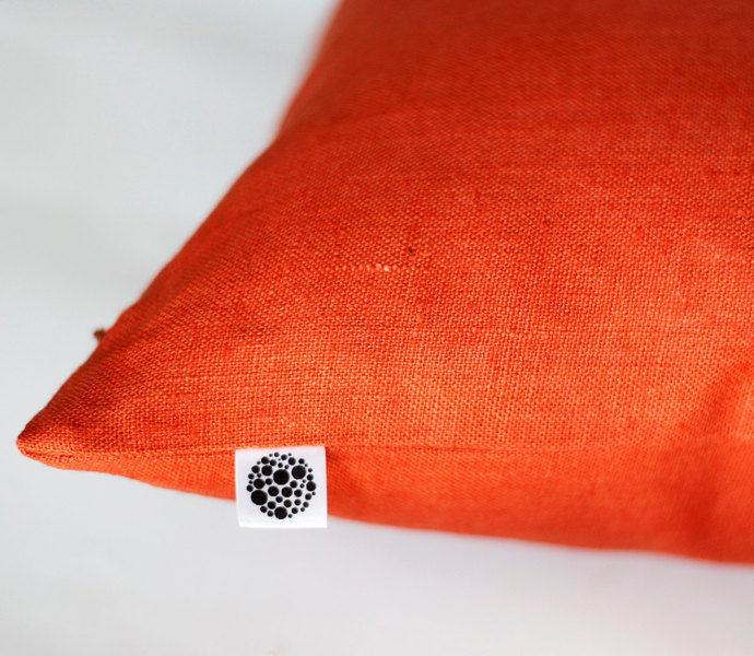 Orange pillow cover 16x16 inch size - classic style decorative pillows case -