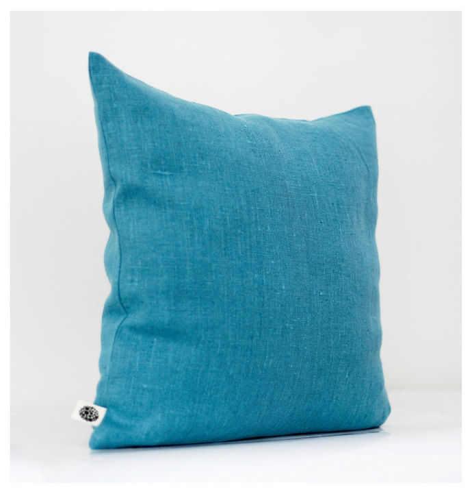 Decorative pillow cover turquoise 16x16 inch size - decorative pillows - shams -